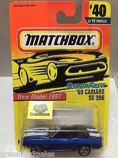 (TAS009349) - Matchbox Cars - '69 Camaro SS 369