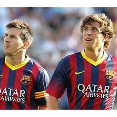 Sergi Roberto and Lionel Messi Fc Barcelona, Sergi Roberto, Kun Aguero, One Team, Lionel Messi, Soccer Players, Football, Sports, Jay Park