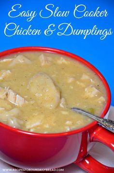 Yummmmmm... slow cooker chicken and dumpling soup!