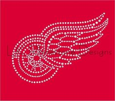 Detroit Red Wings Iron On Rhinestone Transfer