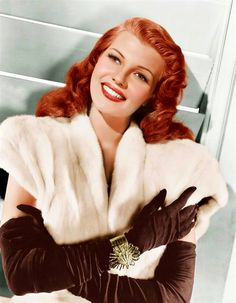 montyburns56:Rita Hayworth wearing opera gloves.