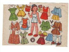 Muñecas de papel Bombón