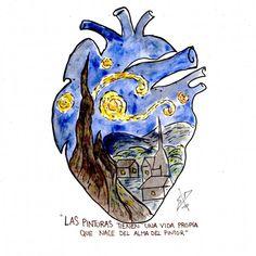 """""""Se pinta con el cerebro, no con las manos"""" . Amor Tattoo, Tattoo Art, Van Gogh Tattoo, Vincent Van Gogh, Van Gogh Drawings, Van Gogh Paintings, Van Gogh Tatuaje, Van Gogh Tapete, Van Gogh Zeichnungen"""