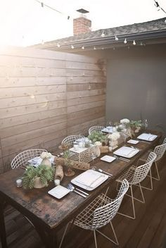 back yard #outdoor #party #dining