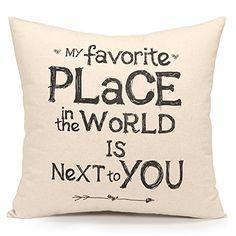 Acanva Decorative Accent Throw Pillow Cover Cushion Sham Case, Inspirational Sweet Love Quote Print, http://www.amazon.com/dp/B01D3X9U24/ref=cm_sw_r_pi_awdm_kRllxb08N98PA