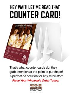 "End of Summer Sales are Near! Its time to tell your retail clients that counter cards are a great sales solution for inventory that needs to move or to advertise additional services.  ""Seamless Online Print Ordering & Delivery from Wholesaler to Customer"" Visit Our Site: http://www.zooprinting.com Get Free Account: http://zooprint.us/6ISkL ‪#‎Printers‬ ‪#‎PrintBrokers‬ ‪#‎GraphicDesigners‬ ‪#‎PrintResellers‬ ‪#‎WholesalePrinting‬ ‪#‎CounterCards‬ ‪#‎ZooPrinting‬"