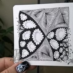 #zentangle #art #abstract #inkart #doodle #design #draw #shading #lilymoon #lilystangles #floral #fullmoonmosaic