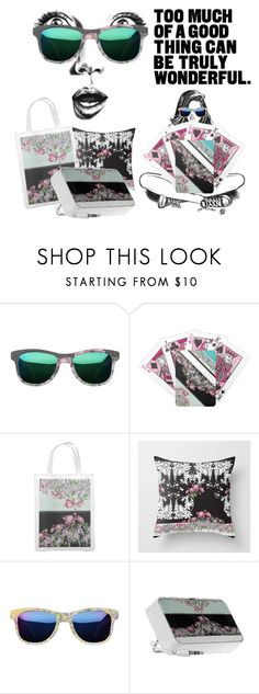 """Sunglasses Shopping"" by tatianamab ❤ liked on Polyvore featuring GE, floralprint, zazzle, never2late2shop and tatianamab"