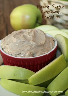 Cinnamon Cream Cheese Dip - - Serve with freshly sliced apples, bananas, pears, baked Cinnamon Pita chips or chocolate graham crackers. This is my crack dip