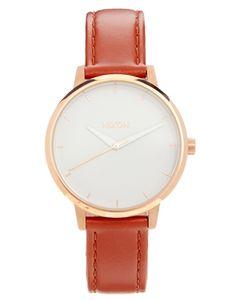 Nixon Kensington Brown Leather Watch
