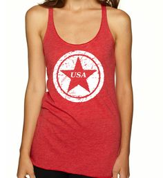 USA Racerback Tank Top    Fourth of July by MotivatedTanksNTees, $18.99
