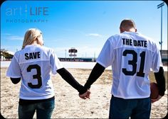 Jersey save the dates. ADORE THIS. but basketball.(;