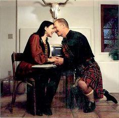 """A lot of the jokes her main character uses are from me,"" ... Doug Watkins, Diana Gabaldon Watkins' husband!! :) Such a sweet picture."