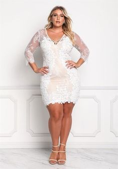 Plus size clothing plus size floral lace embroidered dress debshops curves Plus Size Fashion For Women, Curvy Women Fashion, Ladies Fashion, Plus Size Dresses, Plus Size Outfits, Plus Size Summer Outfit, Chubby Ladies, Curvy Plus Size, Voluptuous Women
