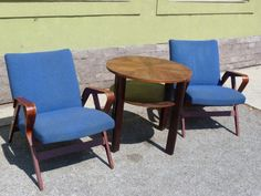 Pair of Tatra Nabytok NP arm chairs, Arm Chairs, Accent Chairs, Dining Chairs, Retro Design, 1960s, Furniture, Vintage, Home Decor, Wing Chairs