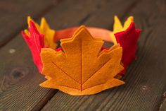 Fall Leaf Crown Fairy crown Child's felt crown by Whimsywerks