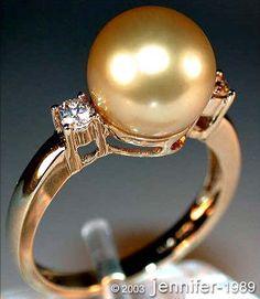 Edler South Sea pearl ring with diamonds » Juwelier Schmucktraeume.com