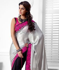 Embellish your ethnic style with the latest collection of some gorgeous and stunning sarees! Now you can transform your traditional look into something more gorgeous, chic and elegant. So embrace your self with a whole new traditional look and define simplicity in its true form! BRAND: BrijrajCATEGORY: Saree with Unstitched BlouseARTICLECOLOURMATERIALLENGTHSareeLight Grey and BlackChiffon with Georgette5.40 metersBlousePinkPoly Dupion0.80 metersWe would always want to send you what we…