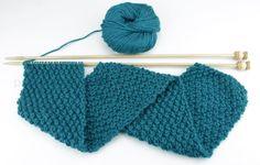 Aprende a tejer Punto Trigo a dos agujas fácilmente con este tutorial con fotos y vídeo. Blog para Aprender a Tejer de Paca La Alpaca Knitting Help, Moss Stitch, Learn How To Knit, Diy Crochet, Handicraft, Knitted Hats, Needlework, Knitting Patterns, Diy And Crafts