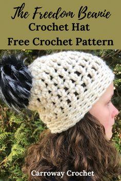 Crochet Blogs, Beginner Crochet Projects, All Free Crochet, Crochet For Beginners, Crochet Hat With Brim, Crochet Beanie, Knitting Patterns Free, Free Pattern, Crochet Patterns