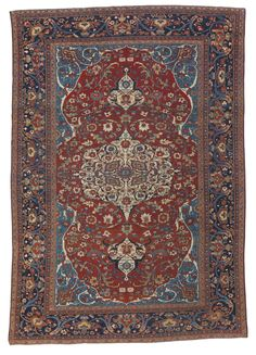 Sarouk Fereghan carpet, North Persia approximately 10ft. by 7ft. (3.05 by 2.13m.) circa 1890