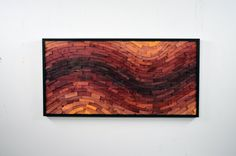 """wood wall art - """"MINERAL RIGHTS"""" - wooden art, wall art, large, red, contemporary, modern art, wooden wall hanging"""