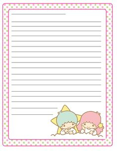 Kawaii memo paper - Little Twins Stars