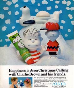 Avon ad october 1968 i had the charlie brown one played with it