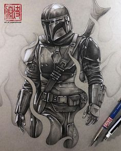 The Mandalorian - Lone Gunman from the upcoming Star Wars TV show. Hope you guys like it 👊🌠 Drawn using lead holders on toned gray mixed media paper with mono zero eraser. Star Wars Tattoo, Star Tattoos, Game Tattoos, Star Wars Fan Art, Star Trek, Star Wars Pictures, Star Wars Images, Star Wars Zeichnungen, Chasseur De Primes