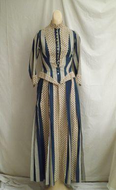 1880's cotton tennis dress.