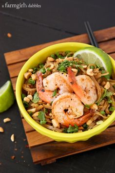 Pad Thai with Shrimp - afarmgirlsdabbles.com