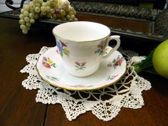 Royal Vale Bone China Teacup Tea Cup and Saucer 8749