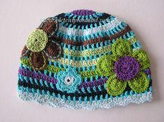 Spring/Autumn hats - flowers :: Kouzlení s háčkem a jehlicemi