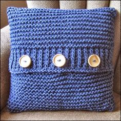 Knit pattern pdf, knit pillow cover pattern, Super Simple Pillow Cover in 6 sizes - PDF KNITTING PATTERN Denim Delight cotton hand knit cushion cover I want to make some knitted cushion covers Loom Knitting, Knitting Patterns Free, Knit Patterns, Free Knitting, Simple Knitting, Sewing Patterns, Finger Knitting, Knitting Machine, Knitting Socks