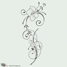 TATTOO TRIBES: Tattoo of Ātaahua, Beauty tattoo,flower hibiscus frangipani koru tattoo - royaty-free tribal tattoos with meaning Koru Tattoo, Swirl Tattoo, Tattoo Bird, Neue Tattoos, Body Art Tattoos, Sleeve Tattoos, Tatoos, Tribal Tattoos With Meaning, Island Tattoo