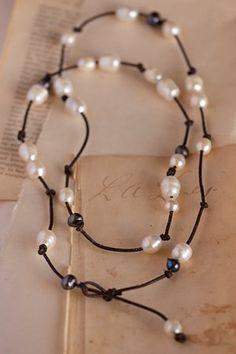 Leather & freshwater pearls - love! https://www.facebook.com/riverroadpharmacyandgifts