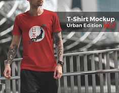 T-Shirt Mockup Urban Edition Vol. 3 by Mockup Cloud on Mockup Templates, Design Templates, Shirt Mockup, Professional Business Cards, Piece Of Clothing, Design Bundles, T Shirts, Light In The Dark, New Work