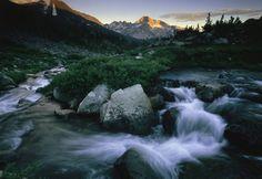 Yosemite National Park  View of a rushing stream in Yosemite National Park.