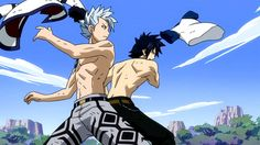 fairy tail grey fullbuster and lyon| Tumblr