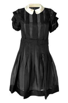 MARC BY MARC JACOBS : Black Silk Organza Ansastasia Dress