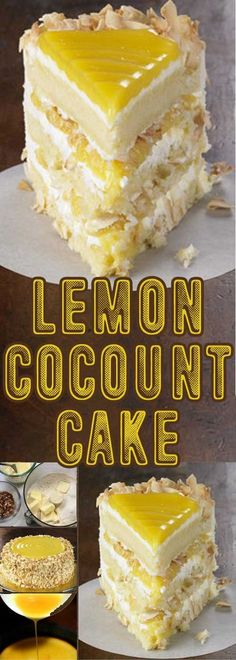 Recipe for Lemon Coconut Cake - Tangy lemon filling between layers of tender white cake. Top it all off with a rich coconut-cream cheese frosting. It's no wonder some people think that it is one of the best cakes they've ever eaten.
