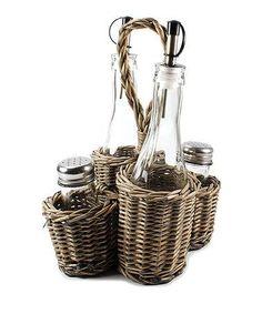 Love this Wicker Bottle  Shaker Set on #zulily! #zulilyfinds