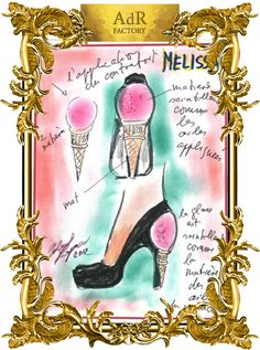 Incense shoes drawing by Karl Lagerfeld