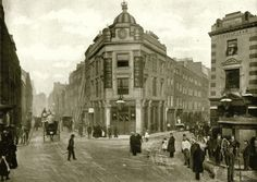 Covent Garden; view of Seven Dials looking up Little Earl Street, now part of Earlham Street, in 1896.