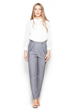 Women Tapered Legs High Rise Pants