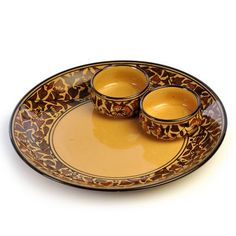 Cultural Concepts Heritage Dip Platter And Bowls 3 Pcs - Add oodles of style to your home with an exciting range of designer furniture, furnishings, decor items and kitchenware.We promise to deliver best quality products at best prices.