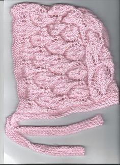 bonnet beguin layette tricot rose clair 6 mois