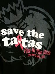 Save the tatas!  The Monarchs annually hold a Pink In The Rink game in February to raise funds and awareness for the fight against breast cancer.