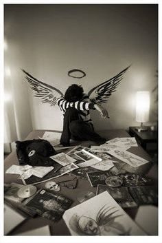 Write a story, poem, fanfiction, script or another type of creative piece on this image. Story Poems, What Is Tumblr, Melancholy, Emo, We Heart It, Old Things, Batman, Album, Superhero