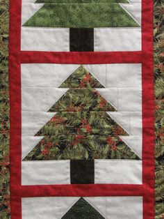 Christmas Tree Wall Hanging/Table Runner Kit-Easy Quilting Design-All Fabrics Inclcuded by ginnyandco on Etsy https://www.etsy.com/listing/256657171/christmas-tree-wall-hangingtable-runner